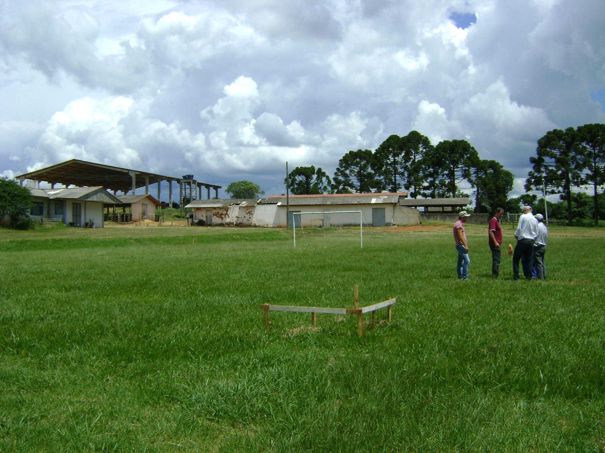 Demarcação do terreno para construção