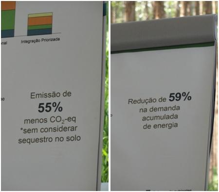 A produção de alimentos com a ILPF emite menos GEE e gasta menos energia