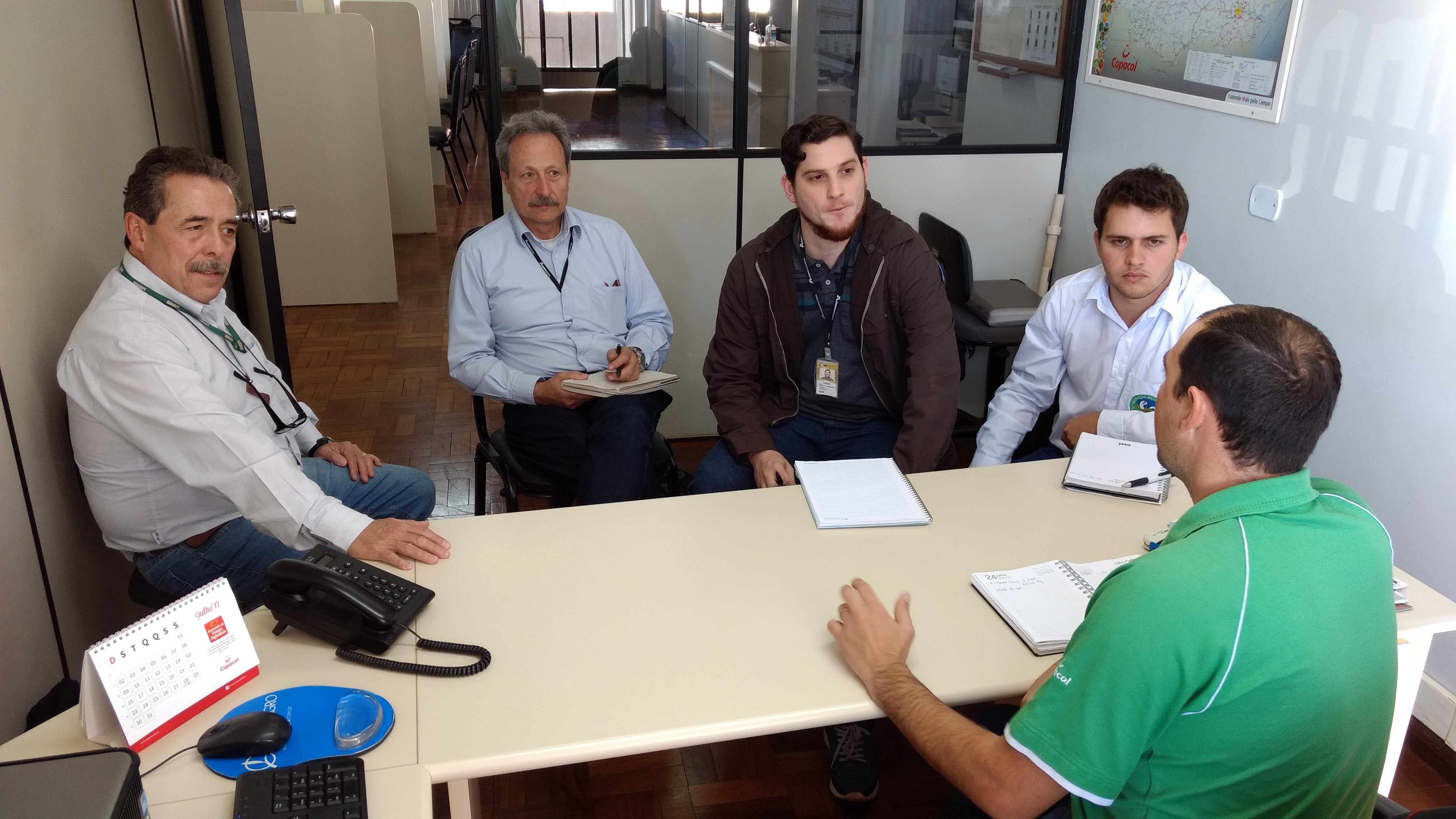 Rafael Fuentes, Nereu Procopiak, Cássio Wandscheer e Jeankleber Bortoluzzi