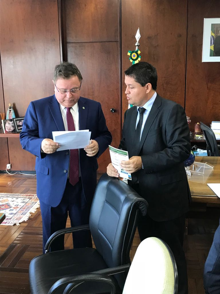 Ministro Blairo Maggi e Tiago Stefanello Nogueira