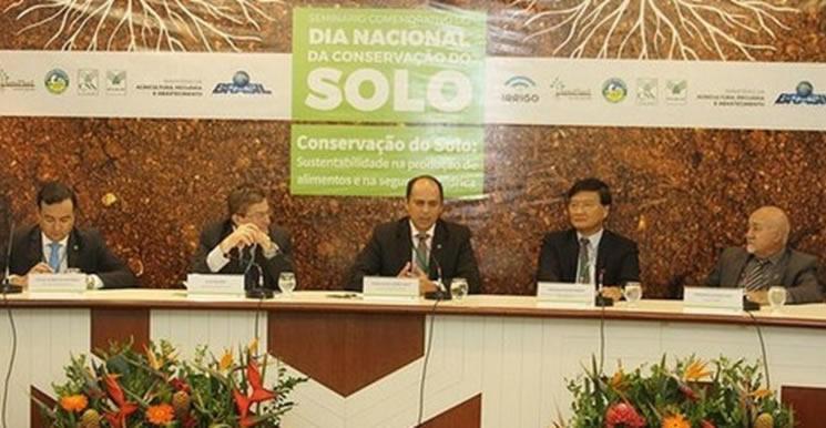 Pedro Neto, diretor do Departamento de Desenvolvimento das Cadeias Produtivas e Produção Sustentável discursa no evento